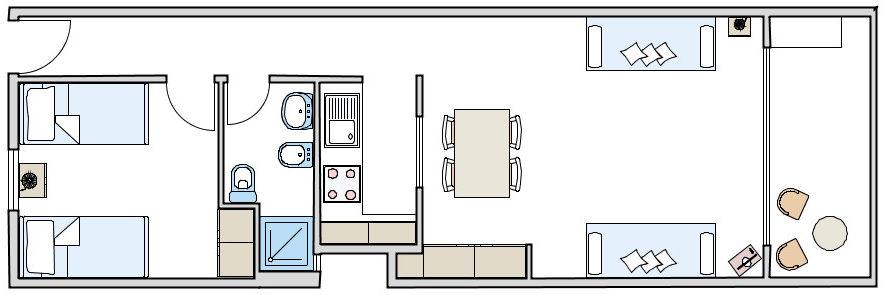 Appartamento borras lungomare affitto formentera - Formentera maggio bagno ...
