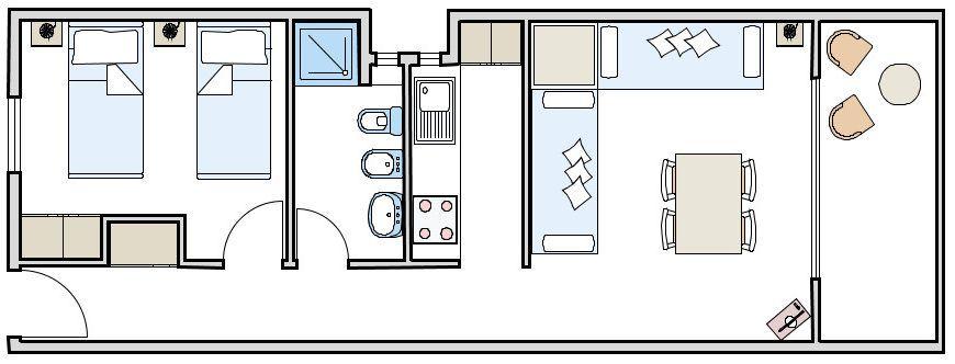 Appartamento borras piazzetta affitto formentera - Formentera maggio bagno ...