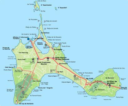 Carte de Formentera