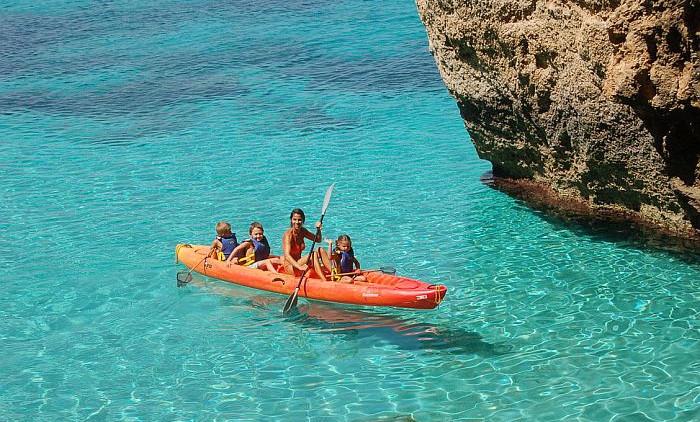 kayak formentera bambini